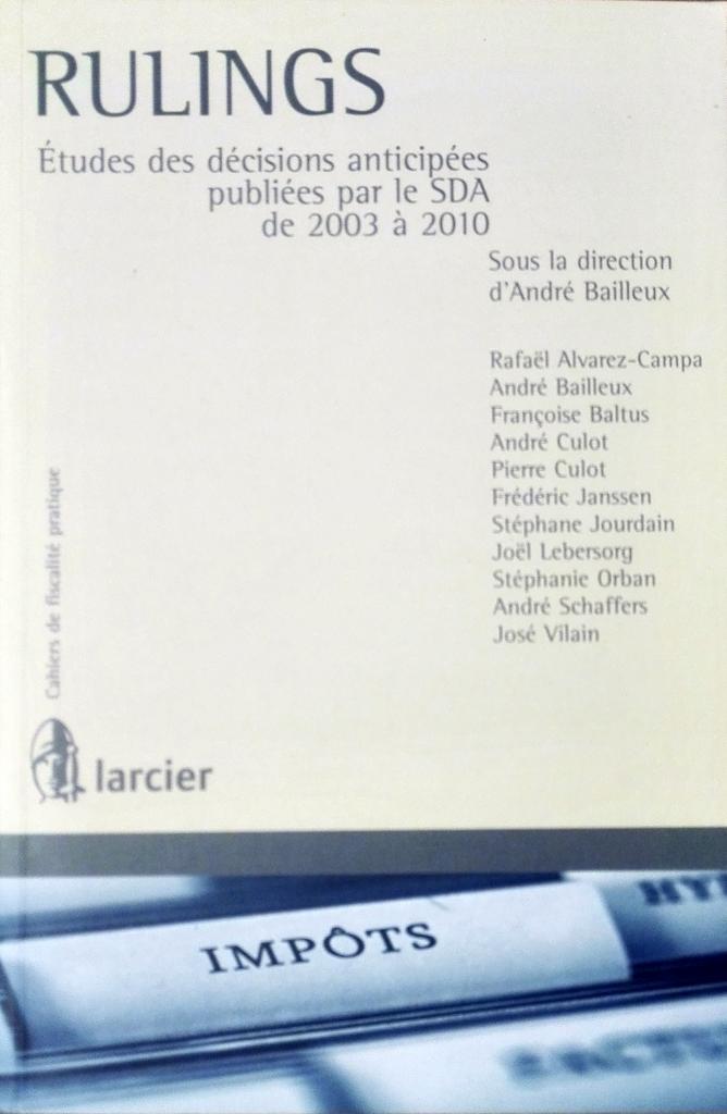 Etudes des décisions anticipées publiées par le SDA de 2003 à 2010